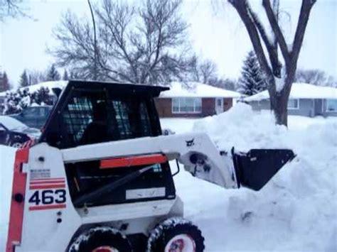 bobcat 463 stunts bobcat in snow doovi