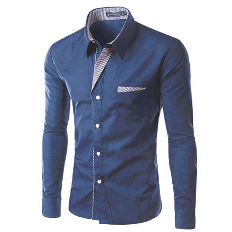 design a long sleeve shirt 2017 new fashion brand camisa masculina long sleeve shirt