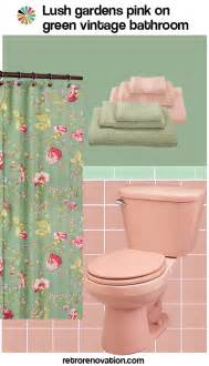 pink green shower curtain 11 ideas to decorate a pink and green tile bathroom
