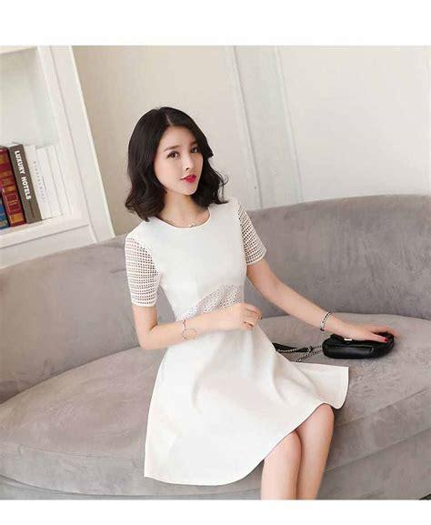 Putih Wanita Putih dress wanita putih korea cantik terbaru jual model