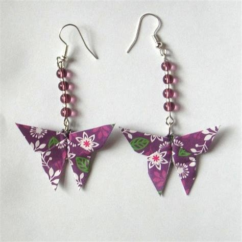 How To Make Origami Jewelry - origami butterfly earrings by sakuralu83 on deviantart