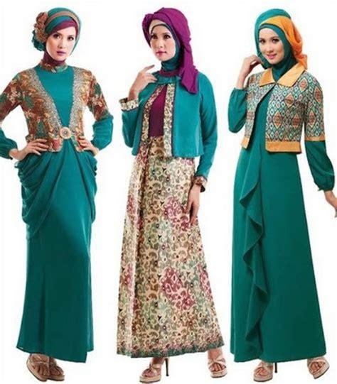 desain gaun muslim batik 21 model baju batik muslimah modern terbaru 2017 2018