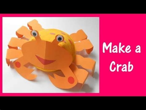 How To Make Arts And Crafts Out Of Paper - arts and crafts how to make a crab