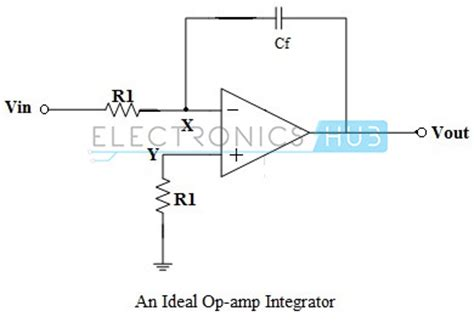 rc integrator circuit using operational lifier op integrator circuit design and applications