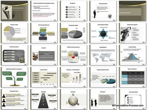 powerpoint business presentation template business opportunity powerpoint template set