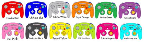 gamecube controller colors gamecube controllers the idolm ster editions by