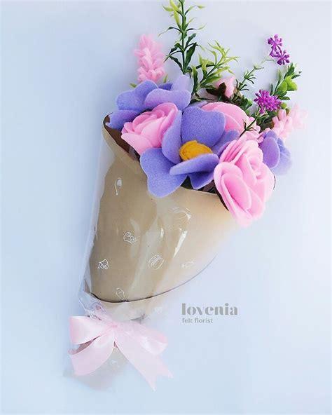 Buket Bunga Flanel Mini purple pink combination lovenia flower bouquet bunga flanel jogja visit us on instagram