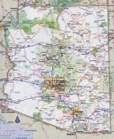 large detailed road map of arizona state with all cities