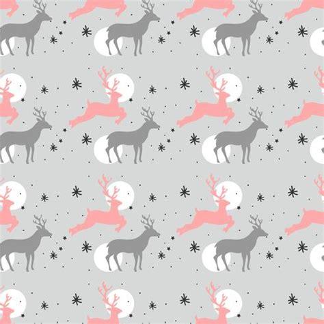 christmas deer pattern download free vector art stock