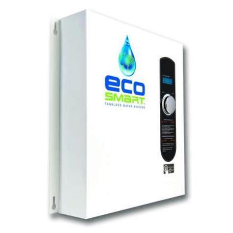 ecosmart 27 kw self modulating 5 3 gpm electric tankless