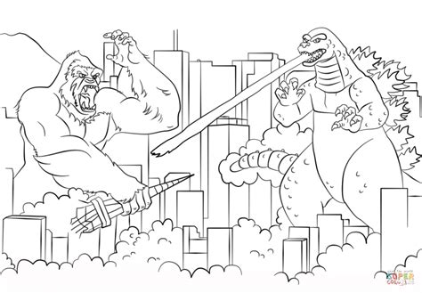 free coloring pages of king kong printable godzilla coloring pages coloring home
