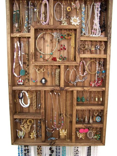 Handmade Jewelry Displays - large jewelry display handmade wood by