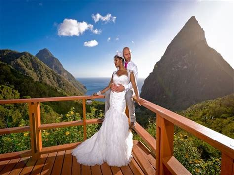 st wedding ladera resort st lucia caribbean wedding tropical sky