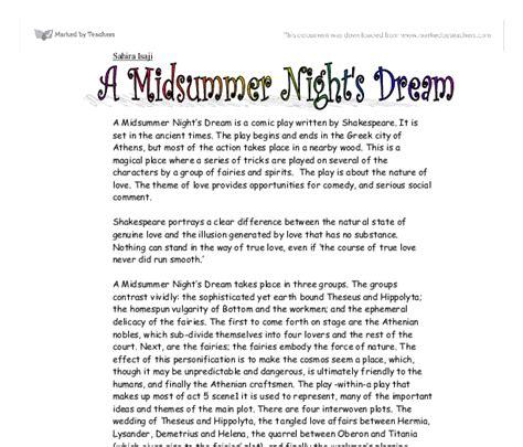 themes of english renaissance drama midsummer nights dream essay the course of true love never
