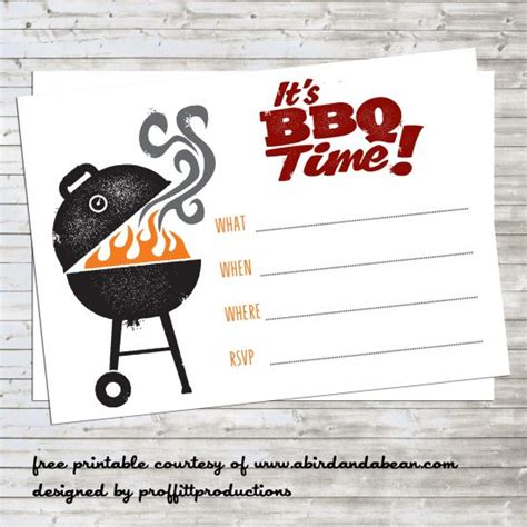 bbq party invitation free printable a bird and a bean
