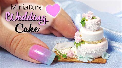 miniature cakes miniature wedding cake tutorial dolls dollhouse