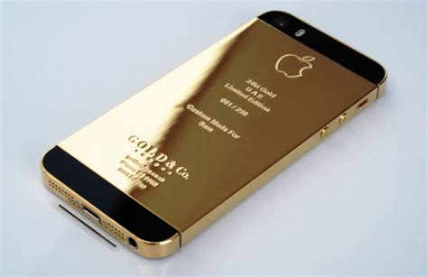 iphone 5s plated in gold or platinum technabob