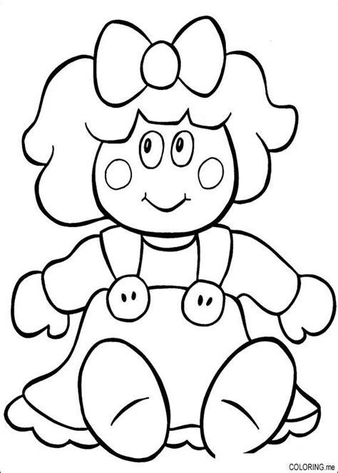 Free Coloring Pages Of Dolls Doll Coloring Page