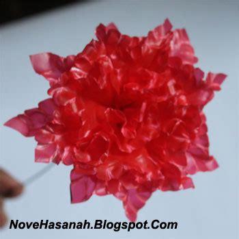 buat bunga mudah  plastik bekas