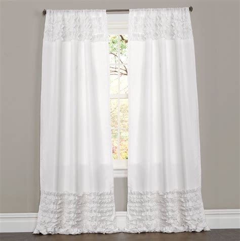 White Ruffle Curtains White Ruffle Curtains 96 Inch Home Design Ideas