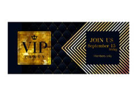 free vip ticket template on business card stock vip invitation card template stock vector image 46087272