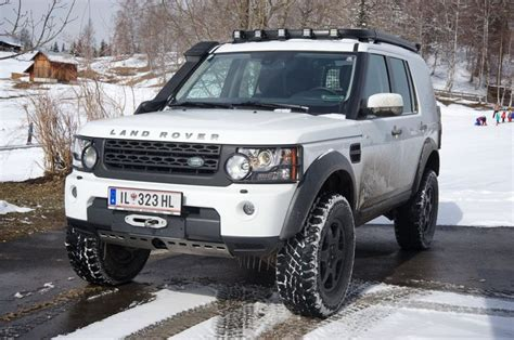 land rover lr4 lifted white lr4 build land rover 4 in and