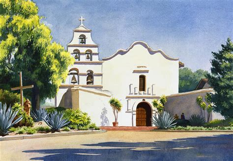 Floor Plan App Android by Mission San Diego De Alcala Painting By Mary Helmreich