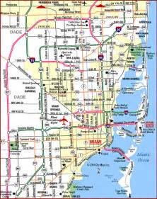 road map of miami metropolitan area highways miami