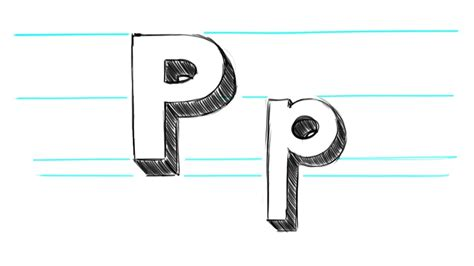 P Drawing Photo by Pics For Gt Letter P