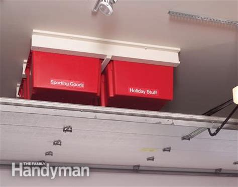 Garage Storage Systems 7 Steps To Create A Luxurious Living Spaceseville Classics Create A Sliding Storage System On The Garage Ceiling The Family Handyman