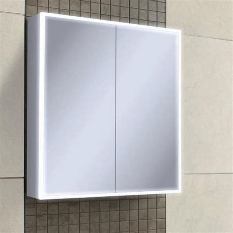 hib bathroom cabinets hib qubic 60 led aluminium bathroom cabinet sanctuary