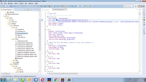 javascript spring layout html font awesome not showing instead square showing in