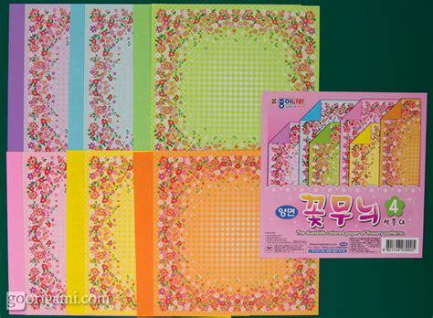 Pattern Origami Paper - origami paper flowery pattern jong ie nara korea go