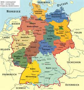 Political Map Of Germany by Germany Political Map