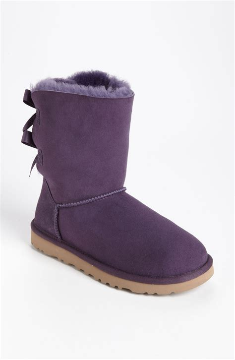 ugg bailey bow boot in purple purple velvet lyst