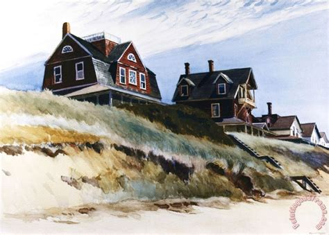 edward hopper cottages at wellfleet painting cottages at