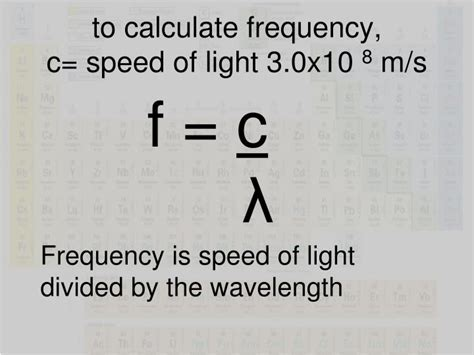 frequency of light calculator ppt ch 5 electrons powerpoint presentation id 5757181