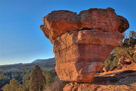 Garden Of The Gods Colorado Springs Usa Garden Of The Gods Balancing Boulder Colorado Springs Hdr
