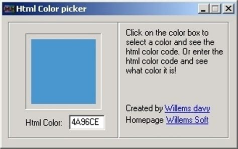 html color code picker html color picker software