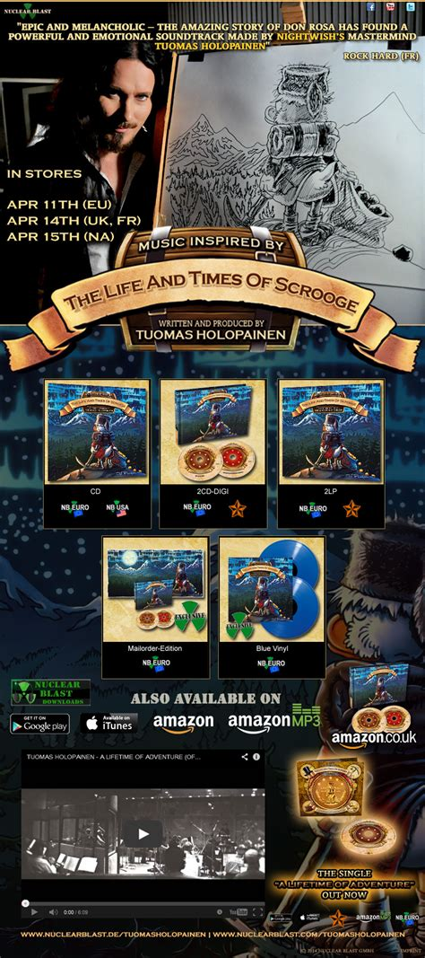 the life and times tuomas holopainen music inspired by the life and times of scrooge available at nuclear blast