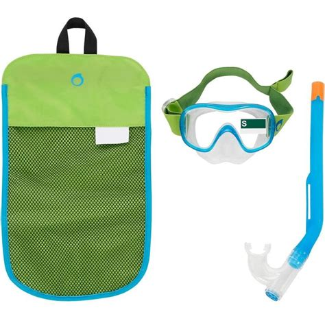 Diving Or Snorkelling Mask Subea By Decathlon 520 kids mask snorkel green decathlon