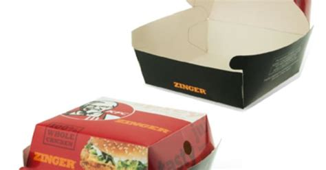 Paper Box Lunch Ukuran M kfc food container paper box catering box meal box lunch