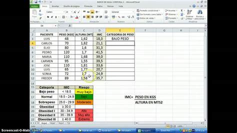 tabla imc indice de masa corporal taringa tabla de masa corporal apexwallpaperscom excel funci 211 n