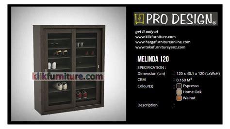 Rak Sepatu Pro Design melinda 120 pro design lemari sepatu sliding harga promosi