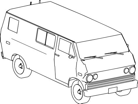 coloring page for van xna protect van rthr car coloring page wecoloringpage