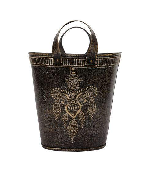 home decor black handicraft basket small buy home decor