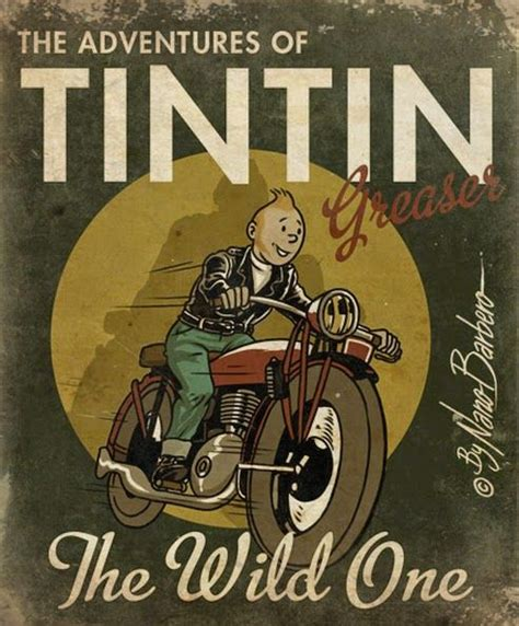 Poster Tintin Tintin En Amerique 40x60cm tintin greaser by nano barbero graphics prints ads tintin