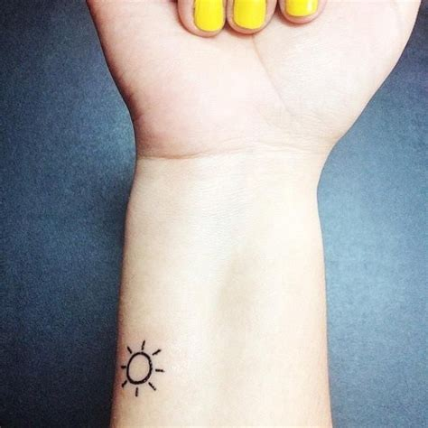 sun wrist tattoo 45 simple sun tattoos collection