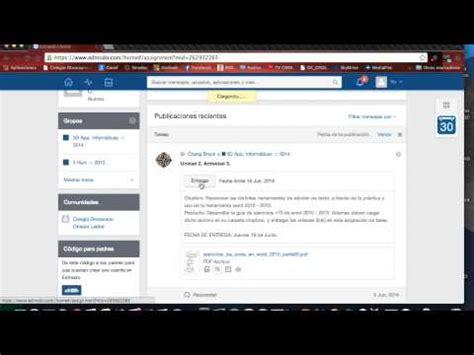 youtube tutorial de edmodo como entregar una asignacion de tarea en edmodo youtube