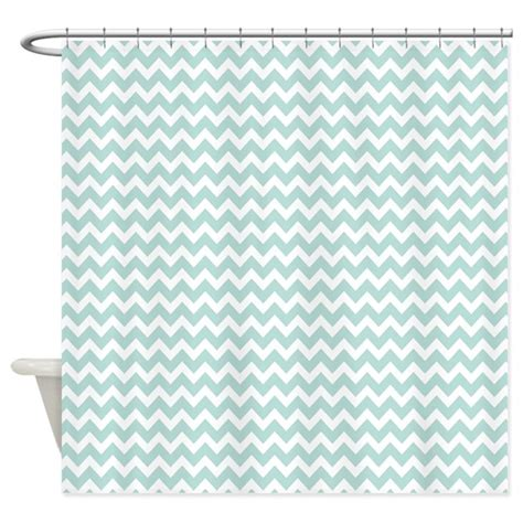 zig zag pattern shower curtain light teal chevrons zigzag pattern shower curtain by